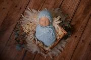 Sky blue mohair wrap and hat fantasy set