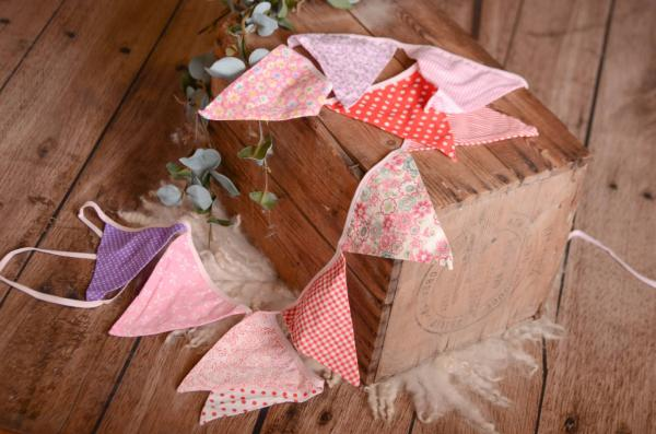 Red decorative pennant