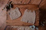 Light grey mohair set with ears