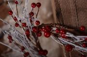 Weihnachtliche Kranz in Rot und Weiß