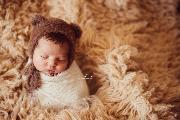 Mink fur hat with ears