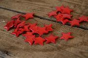 Estrellas decorativas rojo 3 cm