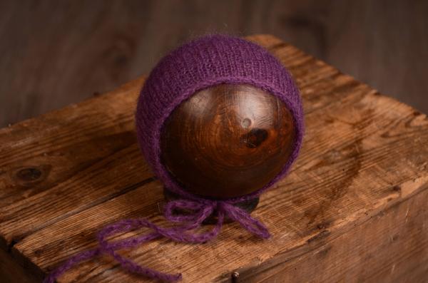 Bonnet mohair violet