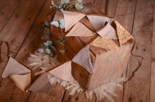 Brown decorative pennant