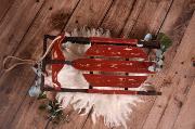 Burgundy vintage sleigh