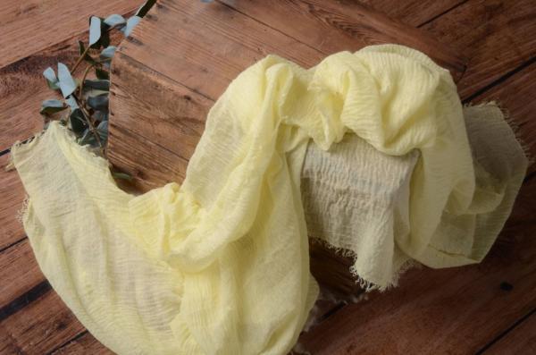 Wrap de algodón amarillo claro
