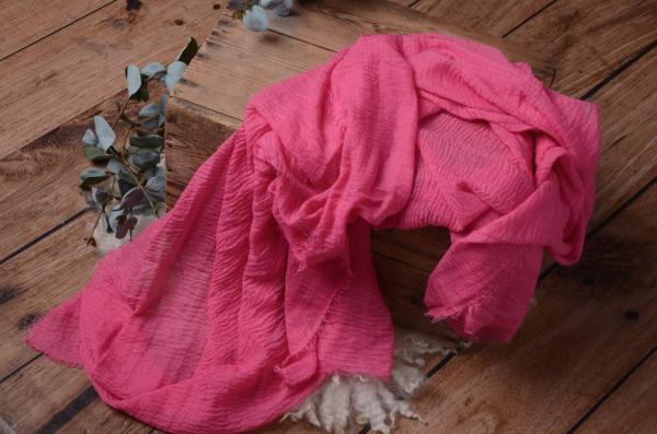 Wrap de algodón fucsia