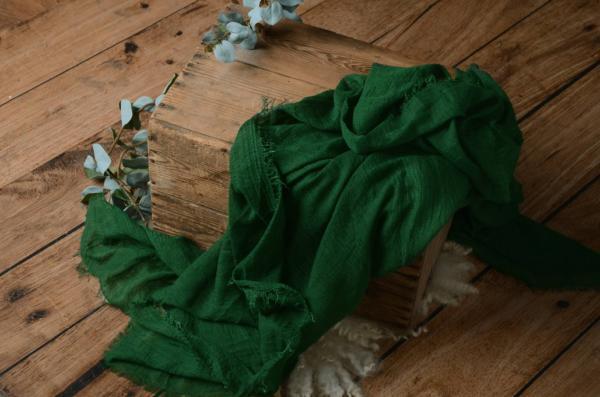 Wrap de algodón verde botella