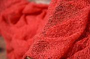 Intense pink rayon wrap