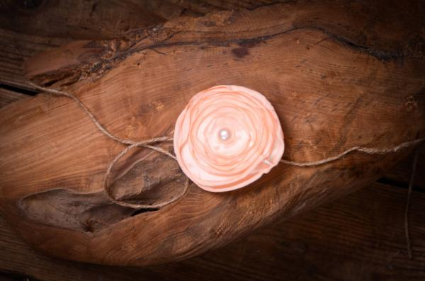 Salmon flower headband