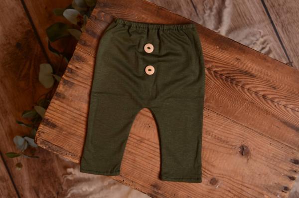 Bottle green stitch trousers