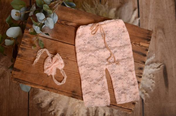 Set pizzo corda rosa chiaro