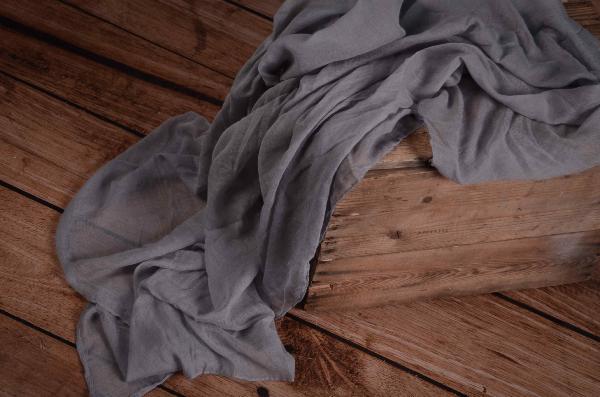 Grey muslin wrap