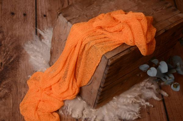 Orange rayon wrap