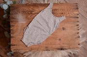 Grey stitch bodysuit