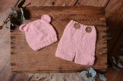 Light pink mohair set with ears