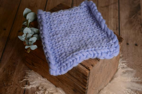 Blue small plaited blanket