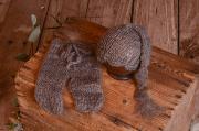 Mütze Angoraset - grau