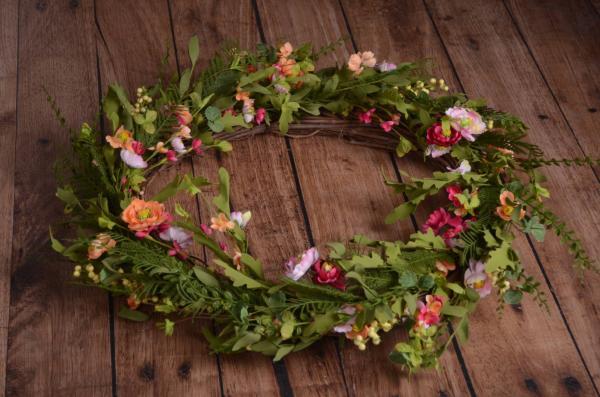 Corona floral primavera
