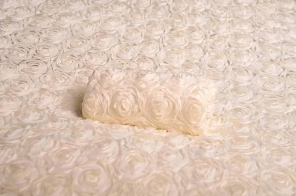 Tela de flores blanco roto