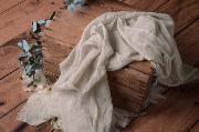 Wrap en coton gris pierre