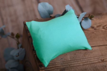Bezug für kleines Kissen in Aquagrün