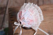 Cuffietta di tela beige e rosa