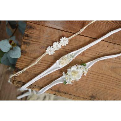 Pack de tocados florales blanco