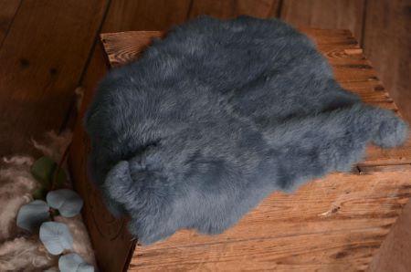Navy blue fur fabric