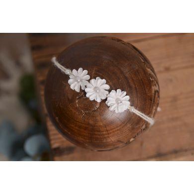 Blütenkopfputz in Weiß - Modell 3