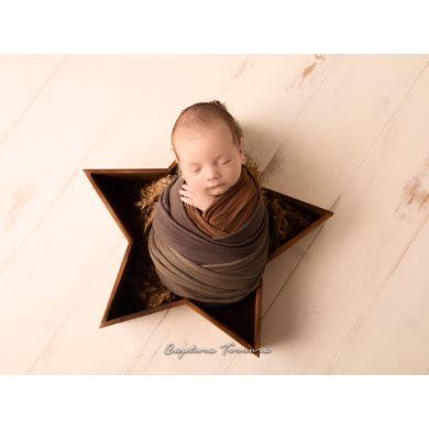 Cuenco estrella marrón
