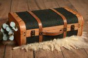 Valigia verde scuro grande
