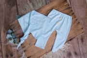 Pack baby blue smooth trousers and long hat