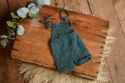 Salopette en mohair courte bleu verdâtre