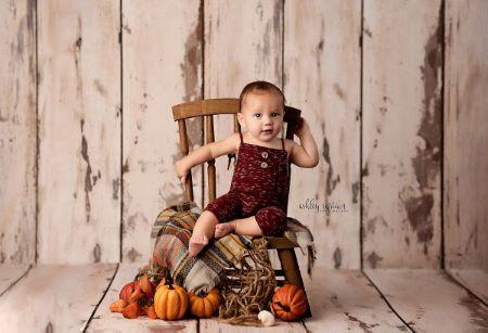 Chaise rustique marron