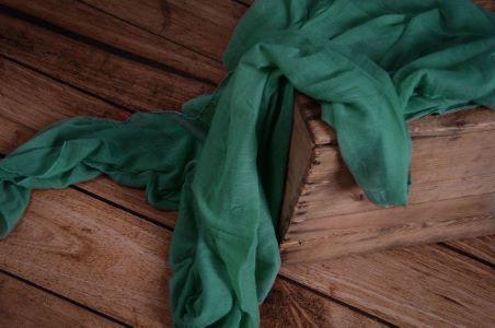 Wrap aus Musselin in Smaragdgrün