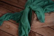 Emerald green muslin wrap