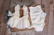 Conjunto body con falda blanco roto