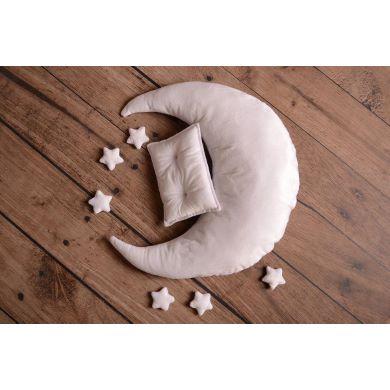 Set luna, cuscino e stelle bianco