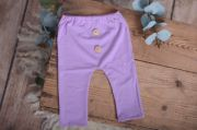 Pack de pantalón y gorro largo de punto con nudo lila