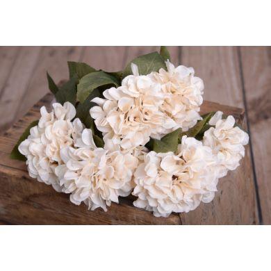 Hortensien Bouquet in Beige