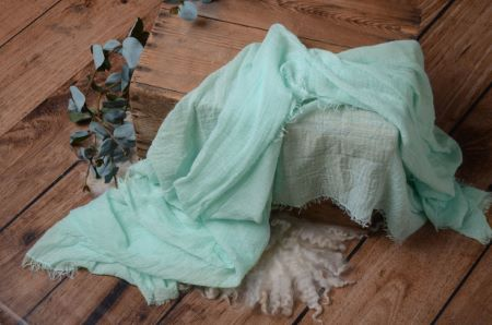 Wrap de algodón verde agua