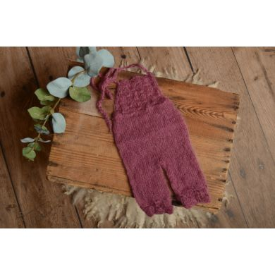 Bougainvillea long mohair dungaree