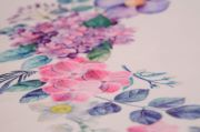 Violets printed fabric