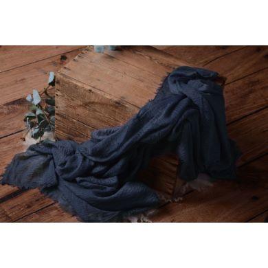 Wrap de algodón azul