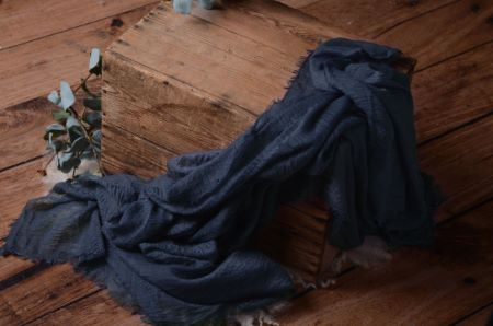 Wrap aus Baumwolle in Blau