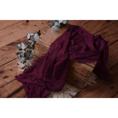Burgundy cotton wrap