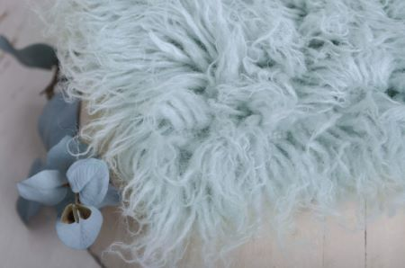 Flokati grand gris bleuâtre