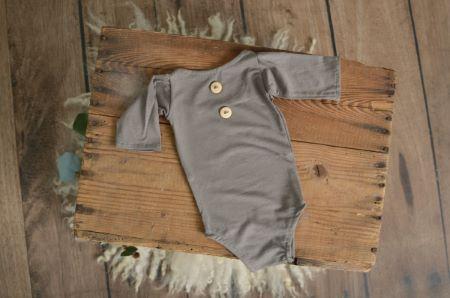 Mink stitch long-sleeve bodysuit