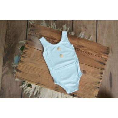 Body de punto sin mangas azul bebé